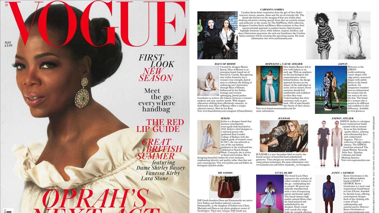 British Vogue August 2018